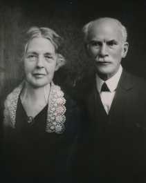 Dr. Josephus Hopwood and his wife Sarah LaRue Hopwood. Photo retrieved from the Lynchburg College archives. Undated.