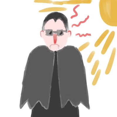Burning vampire