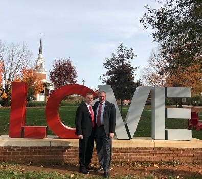 Carter Elliott and Virginia State Senator Tim Kaine. Photo provided by Carter Elliott. Nov. 11.