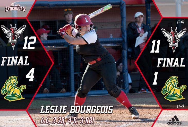 Leslie Bourgeois earned ODAC Player of the Week after the past weekend's game against Methodist. Feb. 18, 2018. Retrieved from lynchburgsports.com.