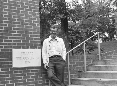 Dr. Robert Hailey from the dramatic arts department. Photo retrieved from Lynchburg College Archives. Circa 1982.