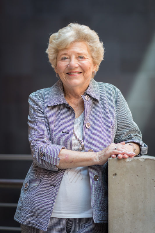 14 August 2014, Holocaust Survivor and Museum Volunteer Halina Peabody stands for a portrait.