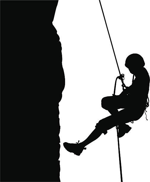 Descending on rope